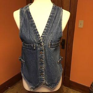 Vintage Levi's 70s distressed sexy denim vest